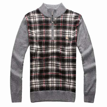 destockage-pull-Burberry,pull-Burberry-pour-homme,pull-jacquard-Burberry-pas-cher